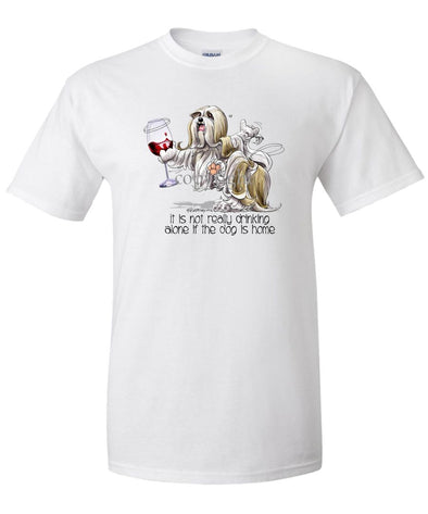 Lhasa Apso - It's Drinking Alone 2 - T-Shirt