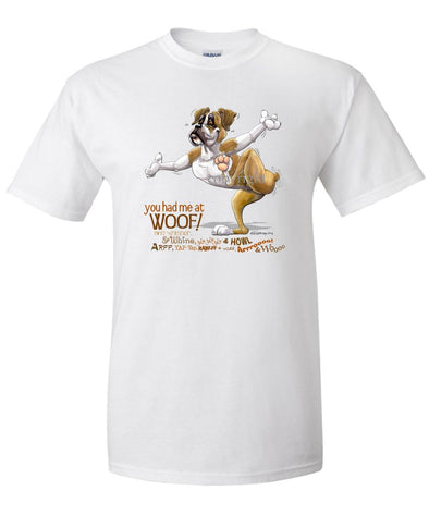 Boxer - You Had Me at Woof - T-Shirt