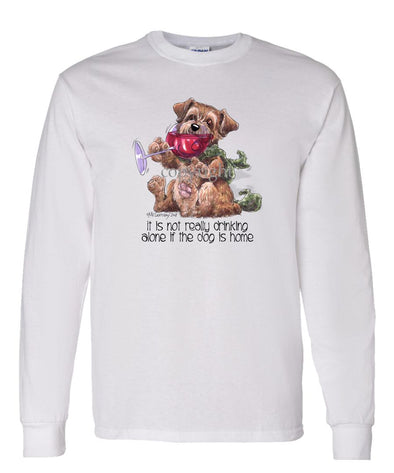 Norfolk Terrier - It's Not Drinking Alone - Long Sleeve T-Shirt
