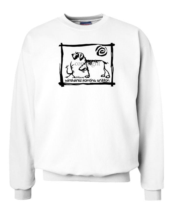 Wirehaired Pointing Griffon - Cavern Canine - Sweatshirt