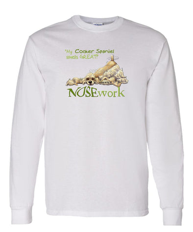 Cocker Spaniel - Nosework - Long Sleeve T-Shirt