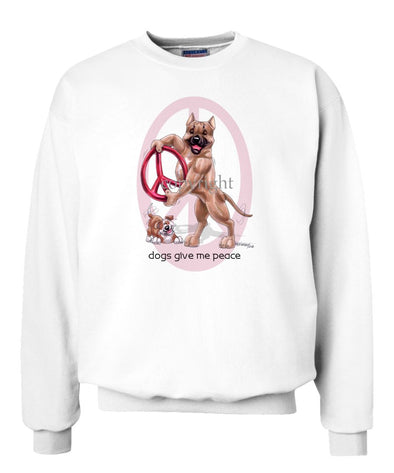American Staffordshire Terrier - Peace Dogs - Sweatshirt