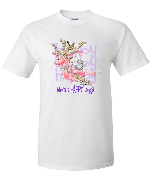 Afghan Hound - Who's A Happy Dog - T-Shirt