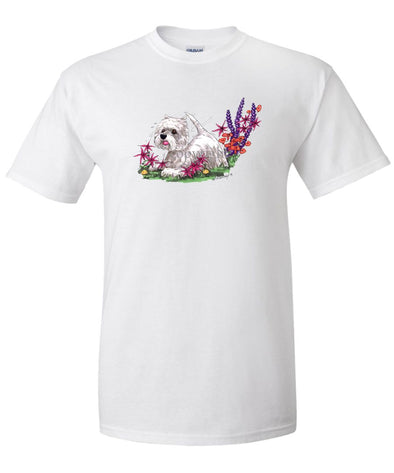 West Highland Terrier - Flowers - Caricature - T-Shirt