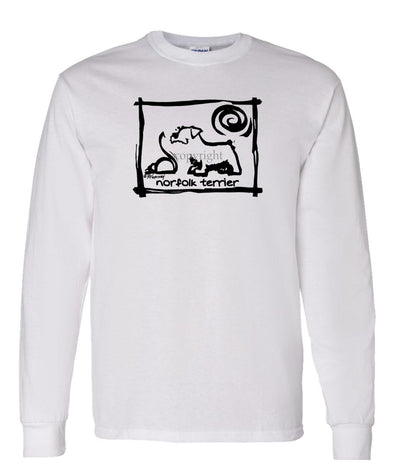 Norfolk Terrier - Cavern Canine - Long Sleeve T-Shirt
