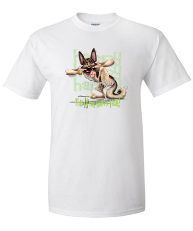 German Shepherd - 4 - Who's A Happy Dog - T-Shirt