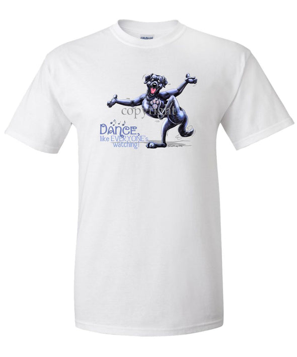 Labrador Retriever  Black - Dance Like Everyones Watching - T-Shirt