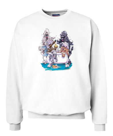 Poodle - Group Bathtub - Caricature - Sweatshirt