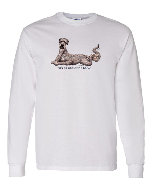 Irish Wolfhound - All About The Dog - Long Sleeve T-Shirt
