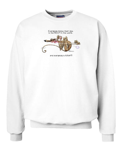 Greyhound - Best Dog in the World - Sweatshirt
