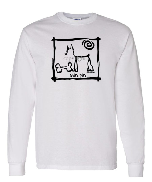 Miniature Pinscher - Cavern Canine - Long Sleeve T-Shirt