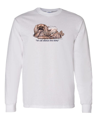 Pekingese - All About The Dog - Long Sleeve T-Shirt