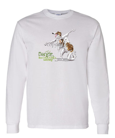 Borzoi - Dance Like Everyones Watching - Long Sleeve T-Shirt