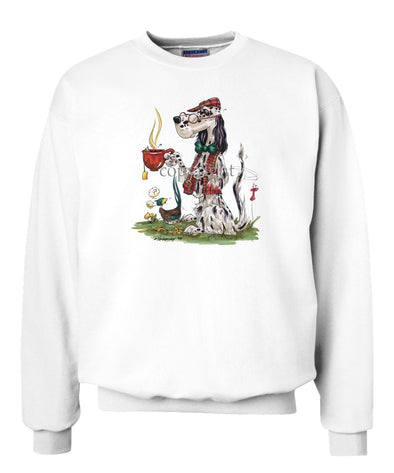 English Setter - Cup Of Tea - Caricature - Sweatshirt