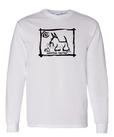 Scottish Terrier - Cavern Canine - Long Sleeve T-Shirt