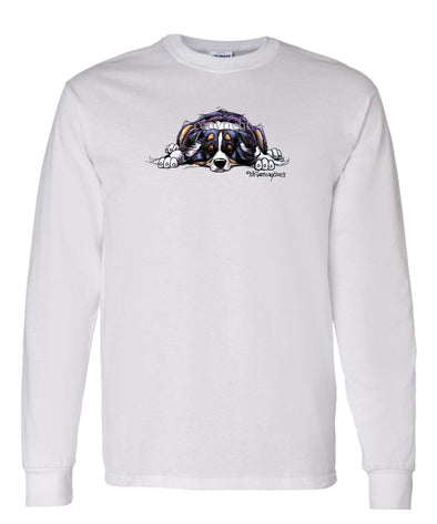 Australian Shepherd  Black Tri - Rug Dog - Long Sleeve T-Shirt