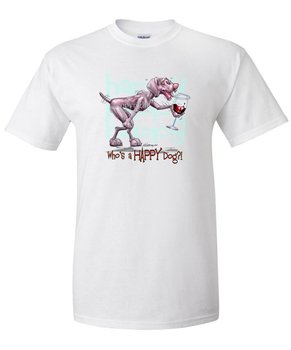 Weimaraner - Who's A Happy Dog - T-Shirt