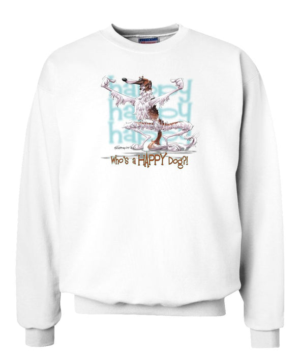 Borzoi - Who's A Happy Dog - Sweatshirt