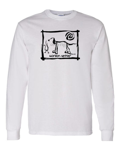 Gordon Setter - Cavern Canine - Long Sleeve T-Shirt