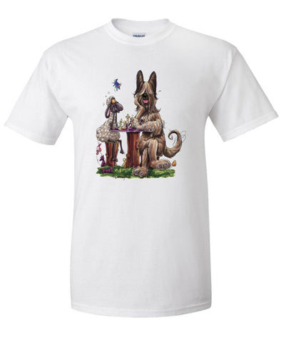 Briard - Playing Chess With Sheep - Caricature - T-Shirt