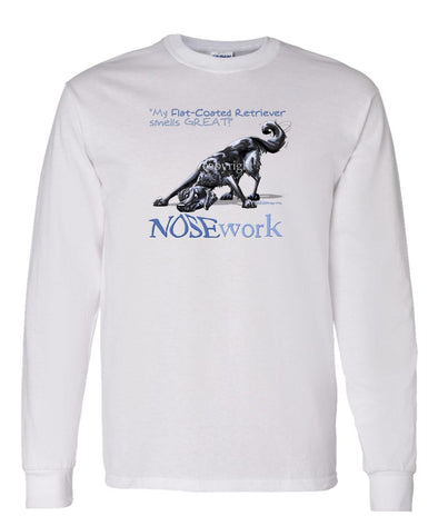 Flat Coated Retriever - Nosework - Long Sleeve T-Shirt
