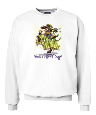 Irish Water Spaniel - Who's A Happy Dog - Sweatshirt