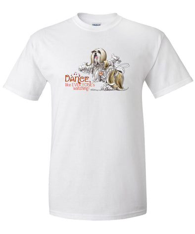 Lhasa Apso - Dance Like Everyones Watching - T-Shirt