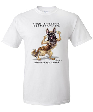 Belgian Tervuren - Best Dog in the World - T-Shirt