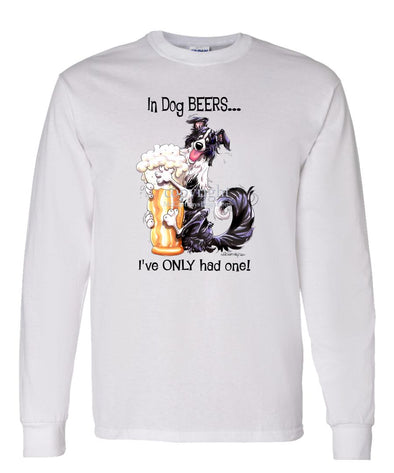 Border Collie - Dog Beers - Long Sleeve T-Shirt