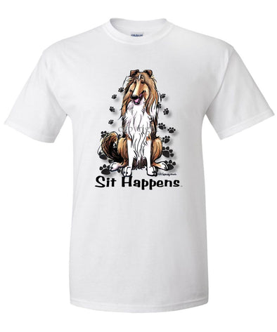 Collie - Sit Happens - T-Shirt