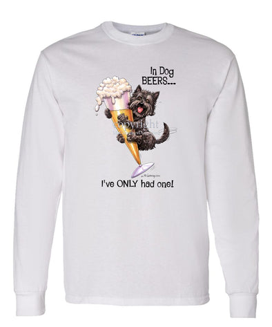 Cairn Terrier - Dog Beers - Long Sleeve T-Shirt