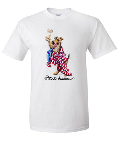 Airedale Terrier - Proud American - T-Shirt