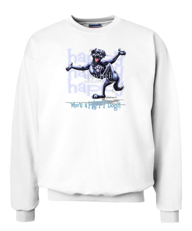 Labrador Retriever  Black - Who's A Happy Dog - Sweatshirt