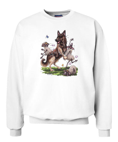 Belgian Tervuren - Dancing Sheep - Caricature - Sweatshirt