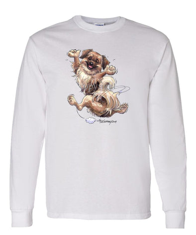 Tibetan Spaniel - Happy Dog - Long Sleeve T-Shirt
