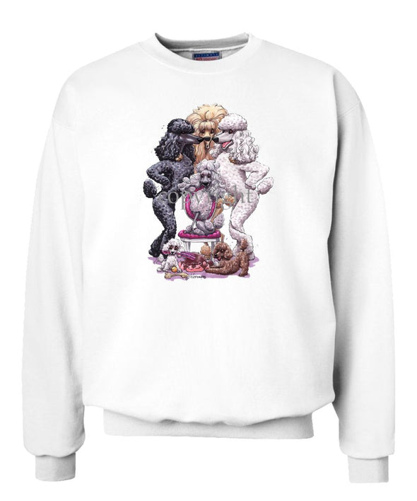 Poodle - Group Standing Around Chair - Caricature - Sweatshirt