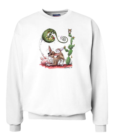 Chihuahua  Smooth - Chasing Lizard - Caricature - Sweatshirt