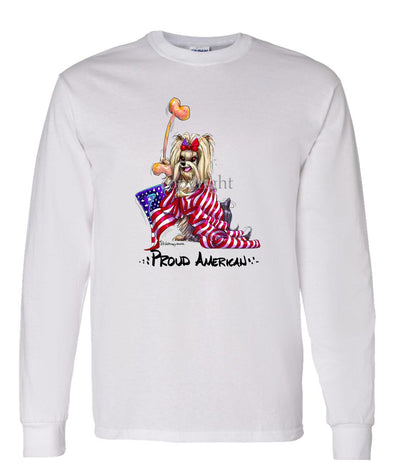 Yorkshire Terrier - Proud American - Long Sleeve T-Shirt