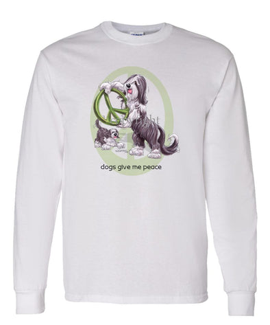 Bearded Collie - Peace Dogs - Long Sleeve T-Shirt
