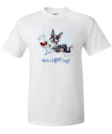 Boston Terrier - Who's A Happy Dog - T-Shirt