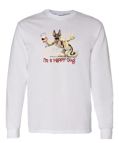 German Shepherd - 2 - Who's A Happy Dog - Long Sleeve T-Shirt
