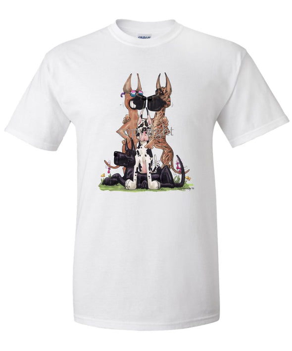 Great Dane - Group Vinage - Caricature - T-Shirt
