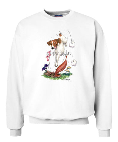 Parson Russell Terrier - Diving After Fox - Caricature - Sweatshirt
