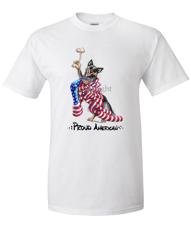 Australian Cattle Dog - Proud American - T-Shirt