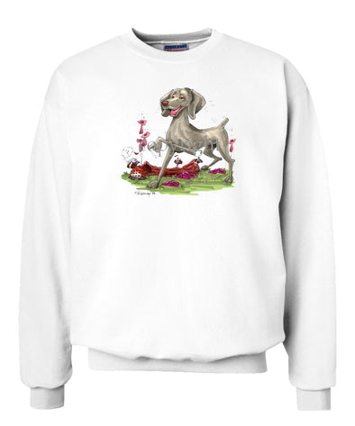 Weimaraner - Pointing - Caricature - Sweatshirt