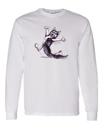 Siberian Husky - Happy Dog - Long Sleeve T-Shirt