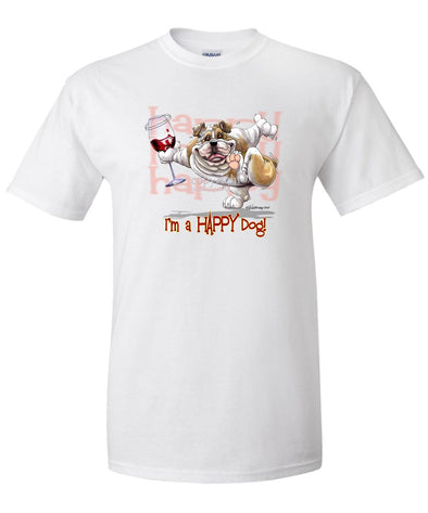 Bulldog - 2 - Who's A Happy Dog - T-Shirt