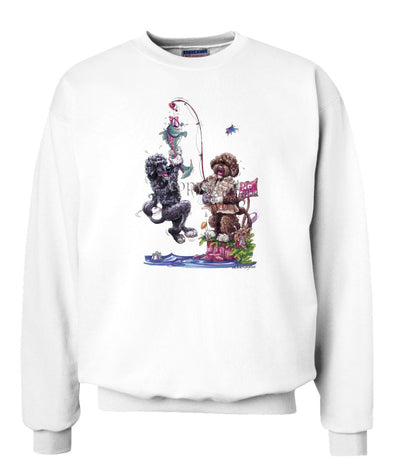 Portuguese Water Dog - Group Fishing - Caricature - Sweatshirt