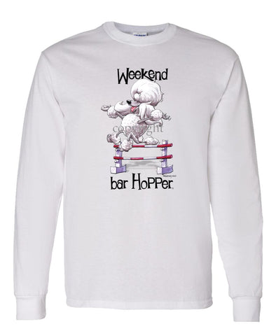 Poodle  Toy White - Weekend Barhopper - Long Sleeve T-Shirt