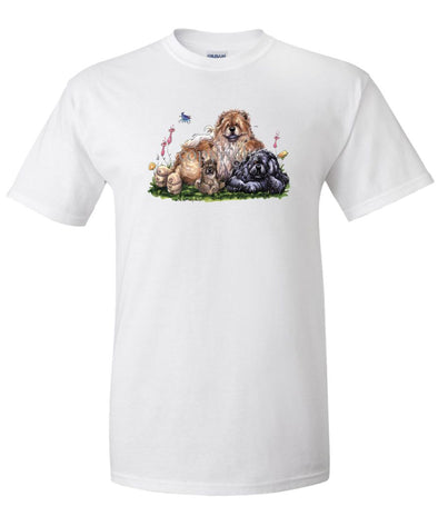 Chow Chow - Group - Caricature - T-Shirt
